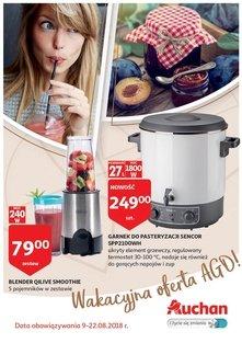 Auchan - wakacyjna oferta AGD