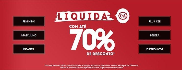 Liquidação 70% OFF C&A
