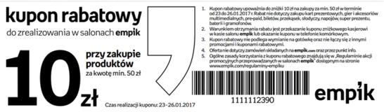 Empik kody i kupony promocyjne
