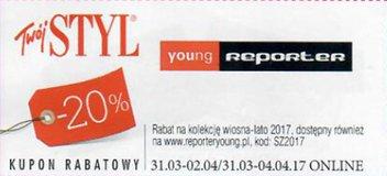 Reporter Young kody i kupony promocyjne