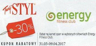 Energy Fitness Club kody i kupony promocyjne