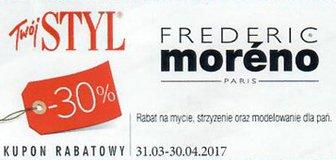 Frederic Moreno kody i kupony promocyjne