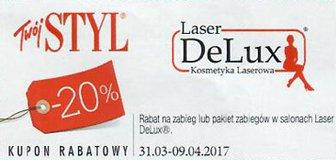 Laser DeLux kody i kupony promocyjne