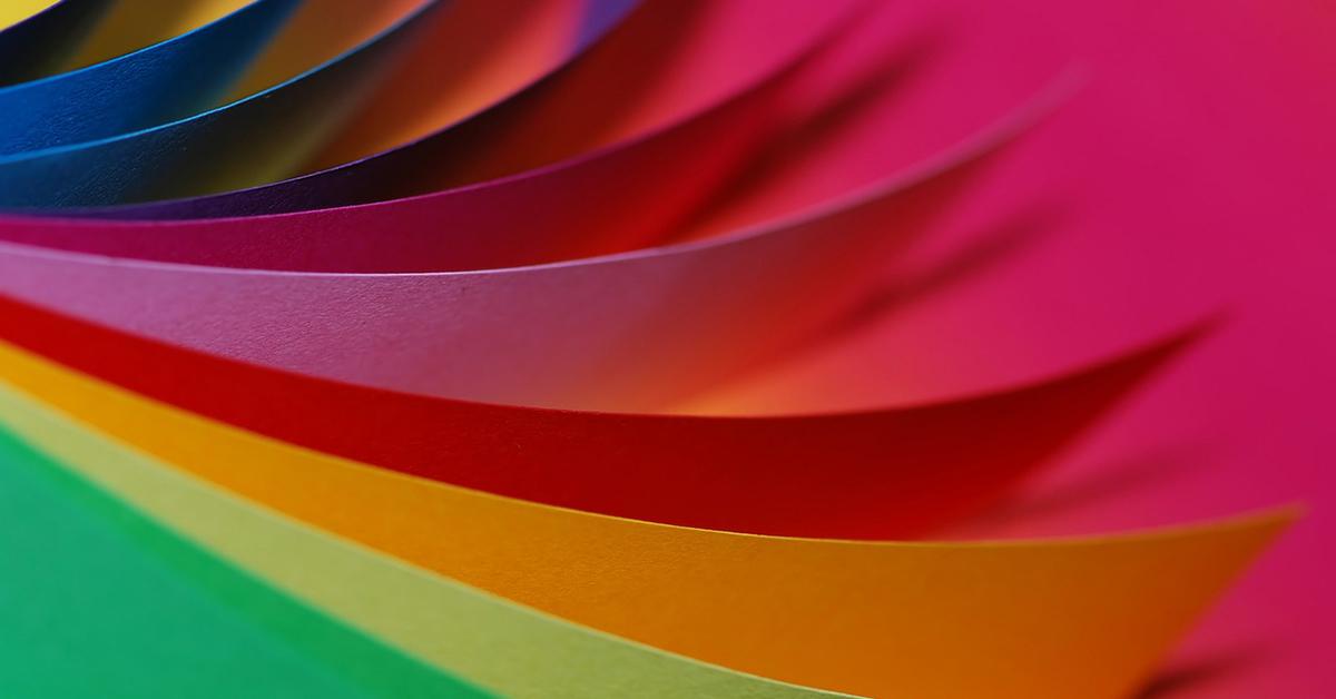 artykuły papiernicze, kolorowy papier