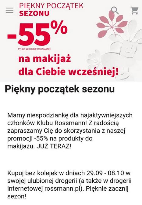 Rossmann promocja kosmetyki do makijażu