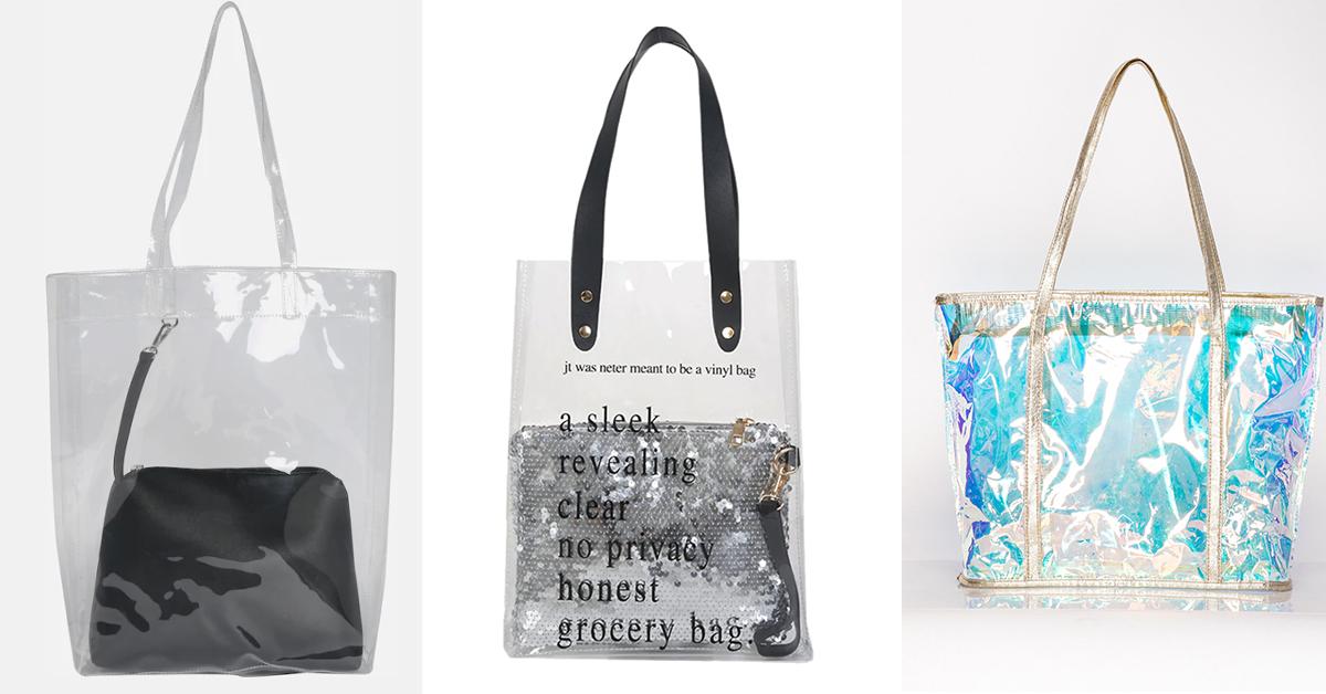 Przeźroczyste torebki na lato