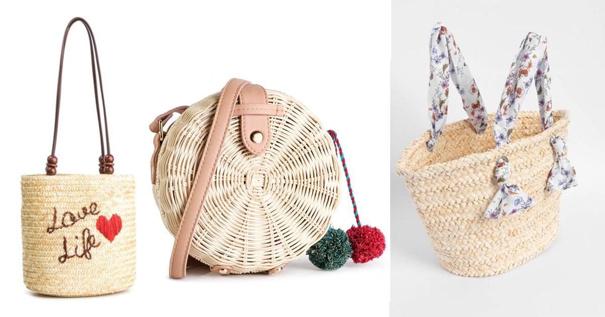 Letnie torebki z wikliny